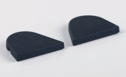 Sidecaps for 15mm hinge R & L, set